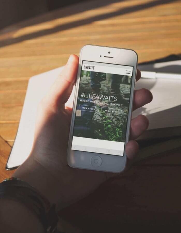 brevite website mobile